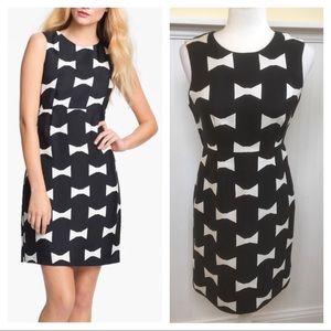 Kate Spade Cora Bow Tie Print Dress Size 4 EUC